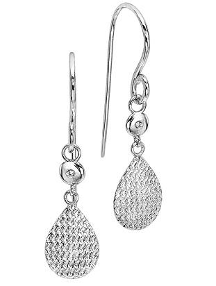 Silver Diamond Earrings / SER2043