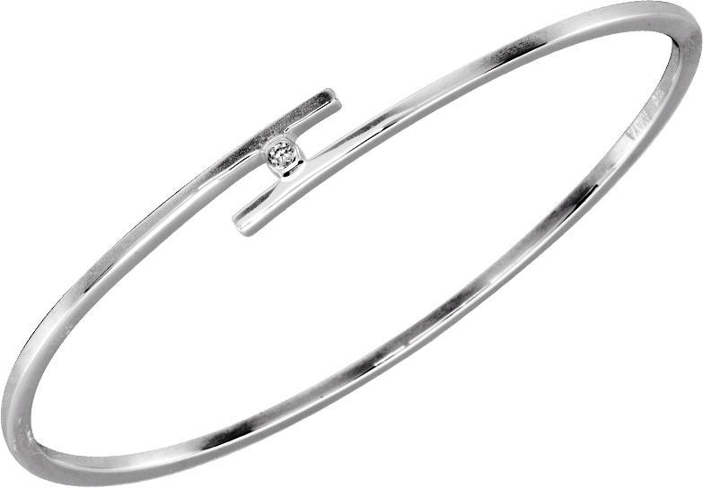 Silver Diamond Bangle / SBG1002