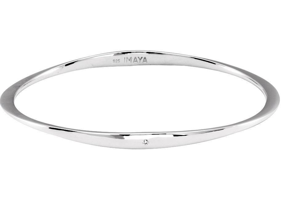 Silver Diamond Bangle / SBG1004
