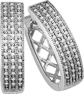 1/5 ctw Diamond Earrings in Sterling Silver / FE1019