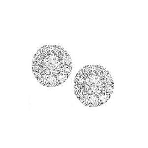 1 ctw Diamond Earrings in 14K White Gold / FE1095AW