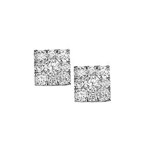 1 ctw Diamond Earrings in 14K White Gold /FE1101AW