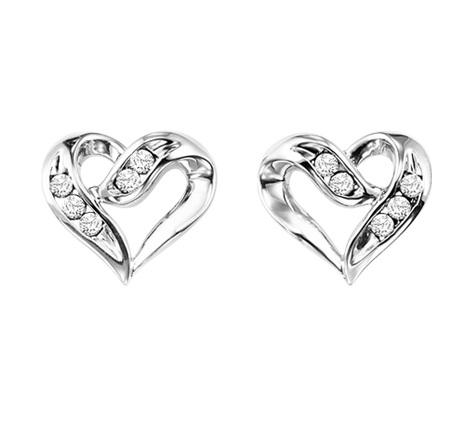 Diamond Earrings in Sterling Silver / FE1133