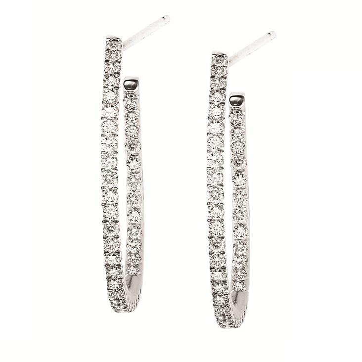 Gold & Diamond Earrings 3/4 ctw : FE1158