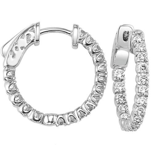 14K Diamond Earrings 2 ctw/FE1186LW