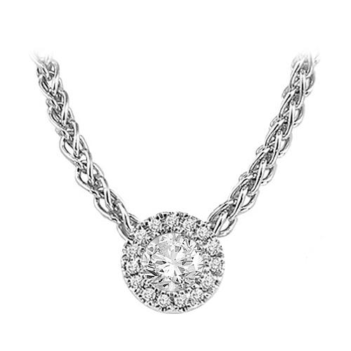 Silver Diamond Mixable Pendant 3/8 ctw / SFP1226