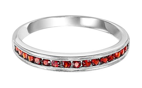 Garnet Ring in 14K White Gold /FR1243