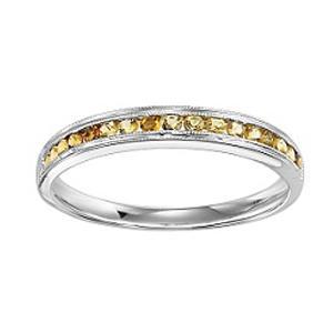 Citrine Ring in 14K White Gold / FR1246