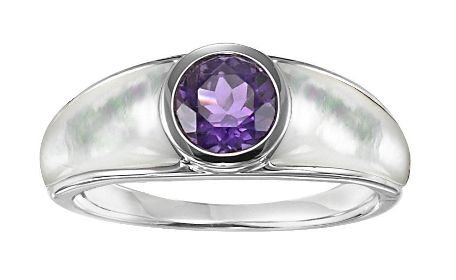 Amethyst Ring in Sterling Silver / FR1301