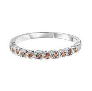 Brown Diamond Ring in 10K White Gold / FR1308