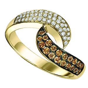 14K Brown & White Diamond Band 1/2 ctw/FR1370