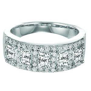 Gold and Diamond Band 1 3/4 ctw : FR1378