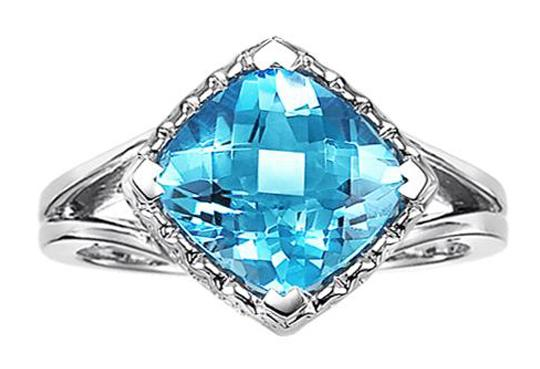 Blue Topaz Ring in 10K White Gold / FR4055B