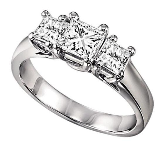 1 ctw Three Stone Diamond Ring in 14K White Gold/HDR1090LW