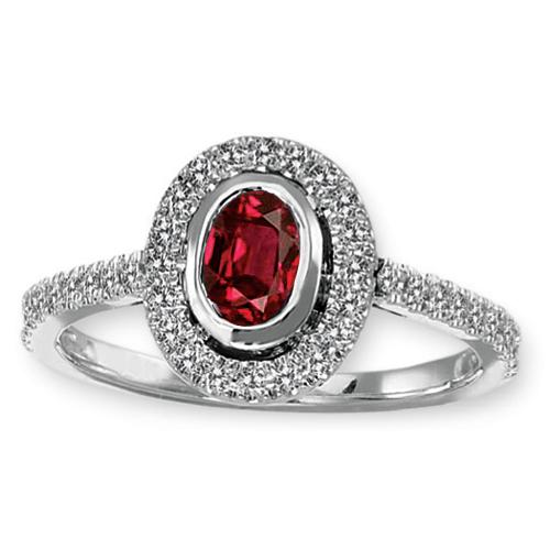Ruby & Diamond Ring set in 14K Gold