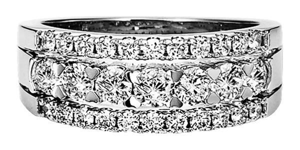 1 ctw Diamond Ring in 14K White Gold/HDR1427WA