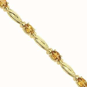 14K Yellow Gold & Citrine Bracelet / JB2482YC