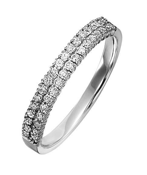 1/2 ctw Diamond Ring in 14K White Gold/LRD0262