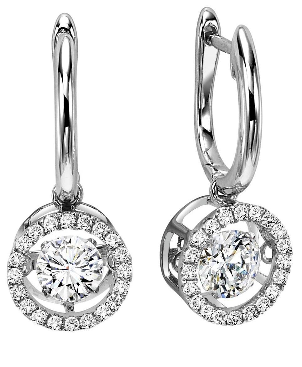 Rhythm of Love Earrings in 14K WG - 3/4 ctw / ROL1014
