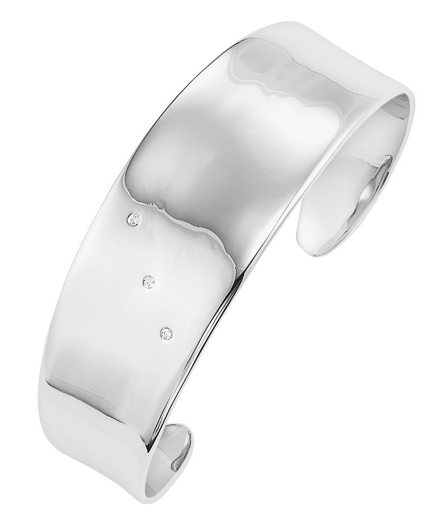 Silver Diamond Bangle / SBG1012