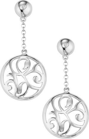 Silver Diamond Earrings /SER2054