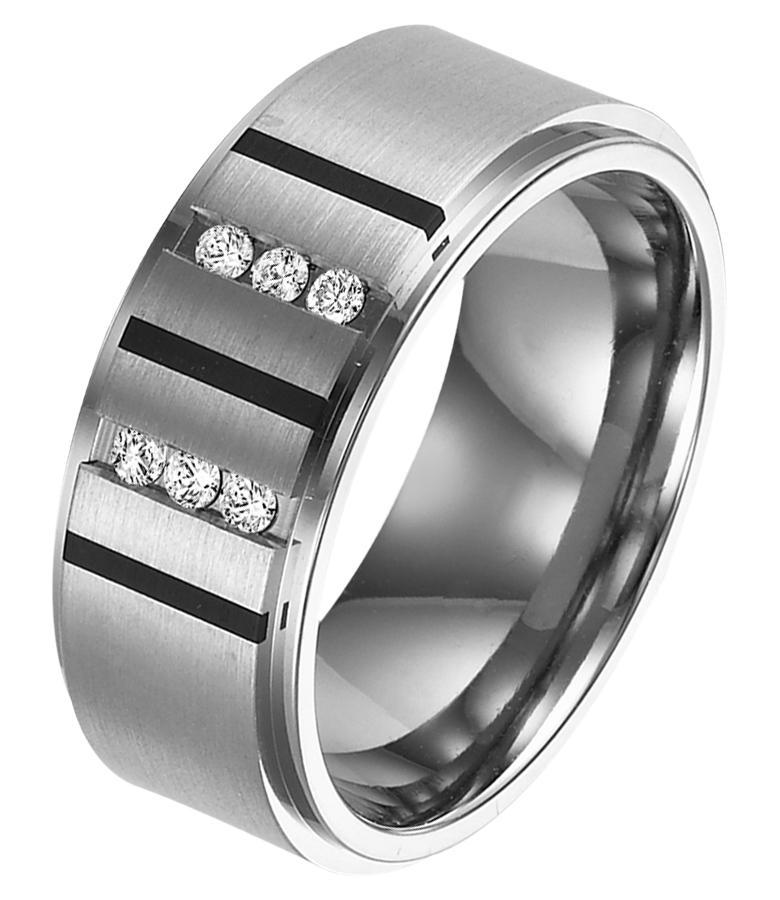 Men's 1/7 ctw Diamond Ring in Titanium/TI1037