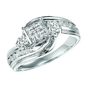 Gold Diamond Engagement Ring 1 ctw / WB5786E