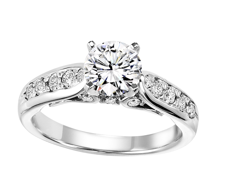 3/8 ctw Diamond Engagement Ring in 14K White Gold/WB5799E