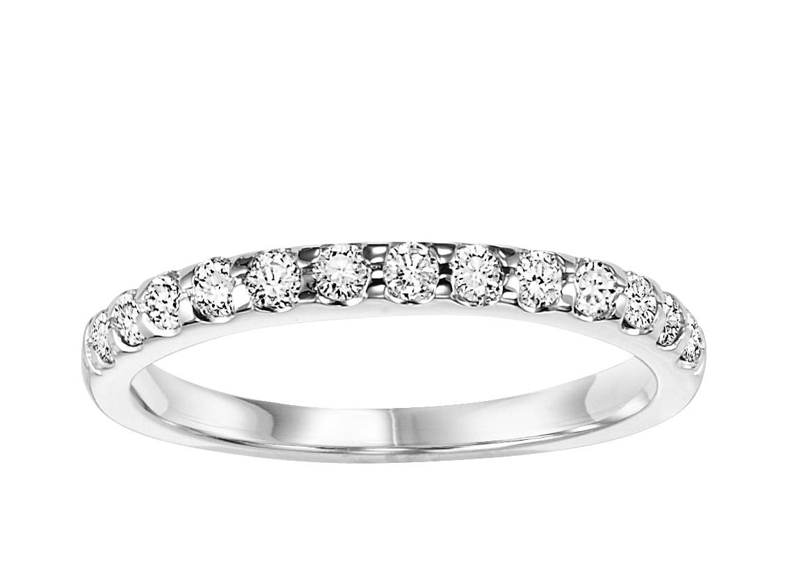 14K White Gold Diamond matching Band 3/8 ctw: WB5803W