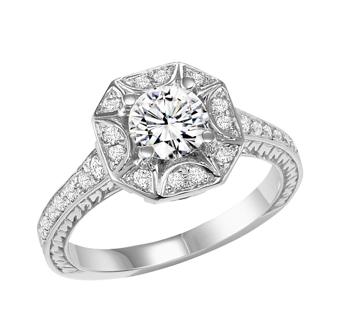 14K White Gold 1/3 ctw Diamond Ring/WB5805E