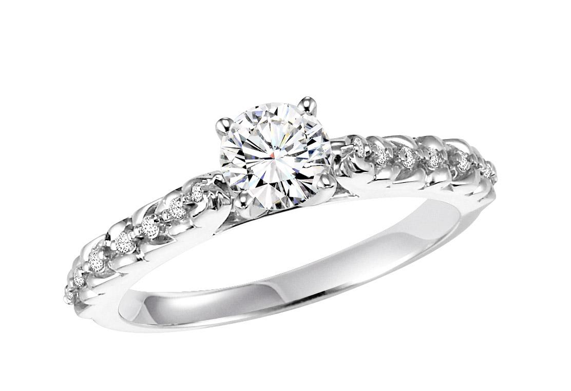 14K White Gold Diamond Ring 1/2 ctw : WB5819E