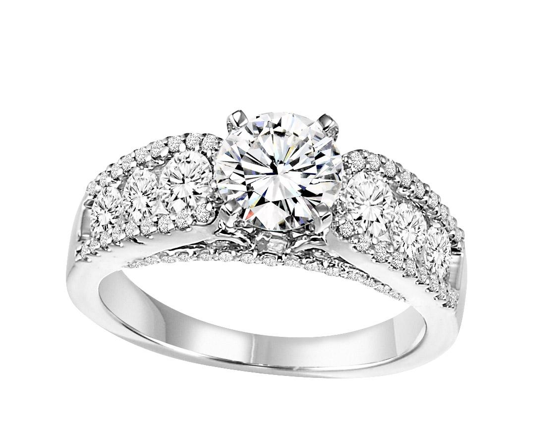 14K White Gold 1 ctw Diamond Ring/WB5830E
