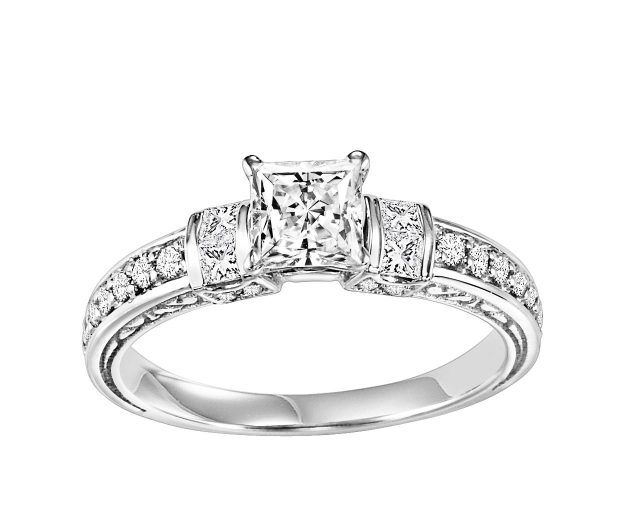 14K White Gold 1/2 ctw Diamond Ring/WB5854E