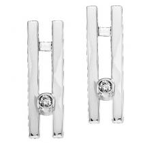Silver Diamond Earrings / SER2024
