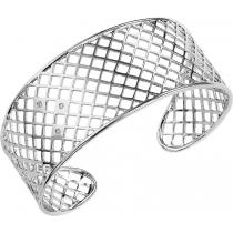Silver Diamond Bangle / SBG2046