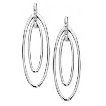 Silver Diamond Earrings / SER2029