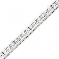 14K White Gold 5 ctw Diamond Bracelet. / B130C-5ct