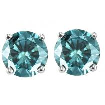 Gold Blue Diamond Studs 1/4 ctw/BLSE6025
