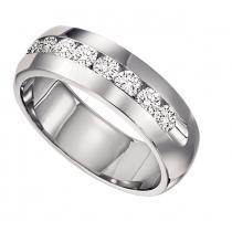 Men's 1/2 ctw Diamond Ring in 14K White Gold/CF32B