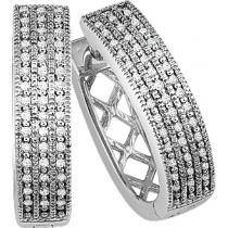 1/5 ctw Diamond Earrings in Sterling Silver / FE1019