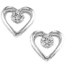 Silver Diamond Earrings / FE1077