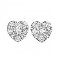 1 ctw Diamond Earrings in 14K White Gold /FE1099AW