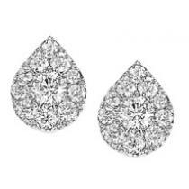 1 ctw Diamond Earrings in 14K White Gold /FE1103AW