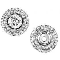 1/2 ctw Diamond Earring Jackets in 14K White Gold /FE1130
