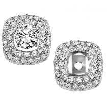 1/2 ctw Diamond Earring Jackets in 14K White Gold /FE1131