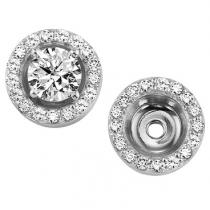 1/5 ctw Diamond Earring Jackets in 14K White Gold
