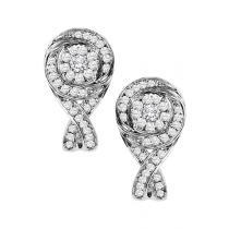 1/3 ctw Diamond Earrings in 10K White Gold / FE1143