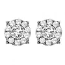 Gold and Diamond Certified Earrings  3/4 ctw: FE1166