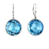 Silver Blue Topaz Earrings /FE1198