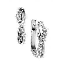 Silver 1/7 ctw Diamond Earrings / FE4059
